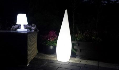 Duża kropla - lampa ogrodowa LED RGB BelGiardno
