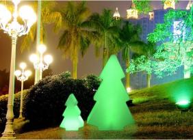 Lampka dekoracyjna LED RGB, przenośna, indukcyjna, mała choinka 16 kolorów, różne funkcje.