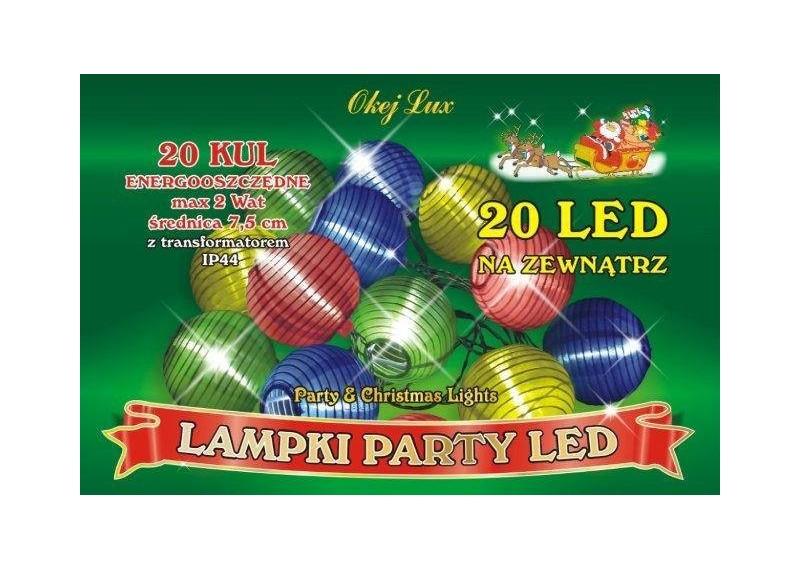 Lampki ogrodowe LED - abażurki multikolor