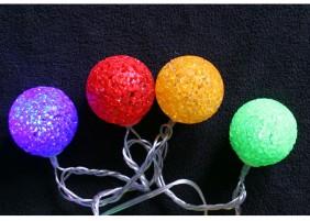 Świecące kule ażurowe o średnicy 4cm - multikolor
