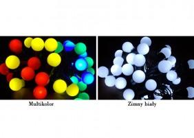 Lampki świąteczne, kule, 1,5cm, 2 kolory do wyboru