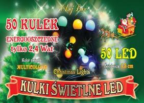 Lampki świąteczne w kształcie 1,5cm kul