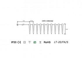 Sople choinkowe LT-20/FA - schemat techniczny