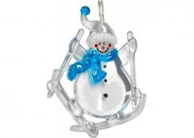 Lampki LED z nakładkami w kształcie Mikołajów i Bałwanków, kolor zimny biały lub niebieski