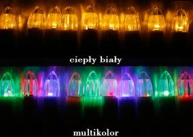 Świeczki choinkowe LED w dwóch wersjach kolorystycznych: ciepły biały i multikolor