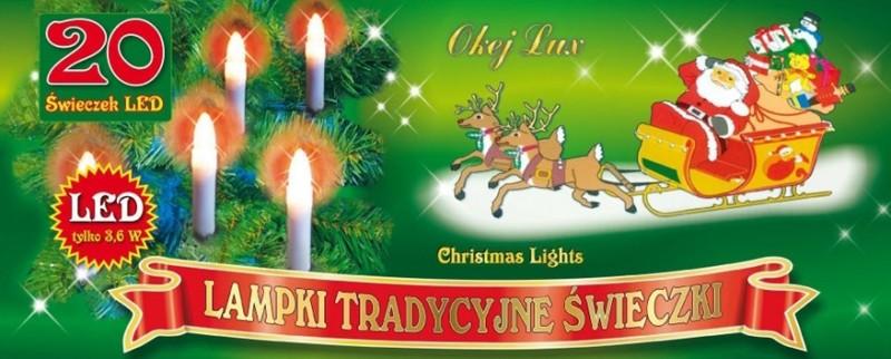 Tradycyjne świeczki do przypinania na choinkę - 20 świeczek LED
