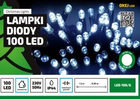 Zewnętrzne lampki LED - łańcuch 10m