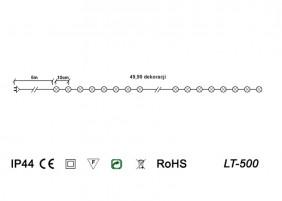 Długi łańcuch LED z wyłącznikiem czasowym - schemat techniczny