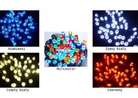 Zewnętrzne lampki LED z wyłącznikiem czasowym - dostępne kolory