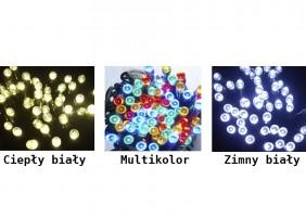 Sople świąteczne LED - dostępne kolory