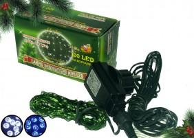 Zewnętrzne lampki mini LED na zielonym drucie