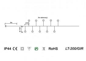 Girlanda zewnętrzna mini LED LT-200/GIR