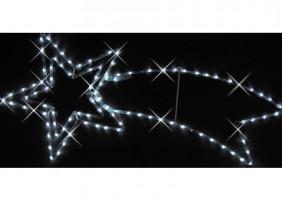 Kometa LED z węża świetlnego, kolor zimny biały, efekt błysku
