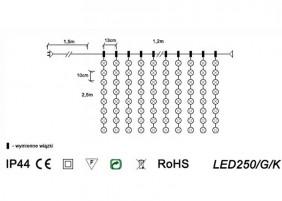 Kurtyna LED250/G/K - schemat techniczny