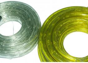 Wąż świetlny z programatorem w dwóch kolorach: przeźroczysty - ciepły i żółty