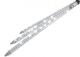 Dekorację tworzy 10 sopli LED po 60cm długości rozmieszczonych co 2m. Łącznie to aż 18m ozdoby świetlnej