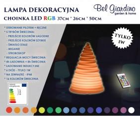 Lampa dekoracyjna LED - okrągła choinka