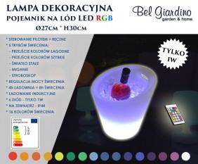 Lampka dekoracyjna LED - pojemnik na lód - cooler