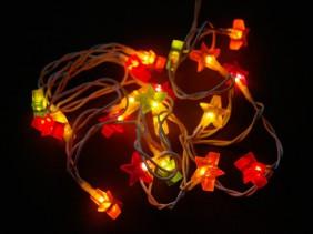 Lampki choinkowe typu ryż z żelowymi nakładkami - gwiazdki