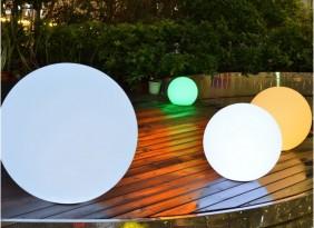 Dekoracyjne, świecące kule ogrodowe. Przenośne i ładowane indukcyjnie. 5 różnych rozmiarów od 25 do 60cm