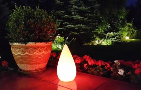 Przenośna, indukcyjna lampa ogrodowa LED BelGiardino - mała kropla. Różne funkcje i kolory