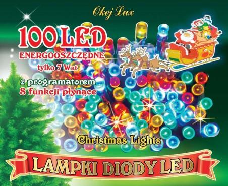 Światełka choinkowe 8 funkcji ze sterownikiem. Hurtownia oświetlenia świątecznego Okej Lux
