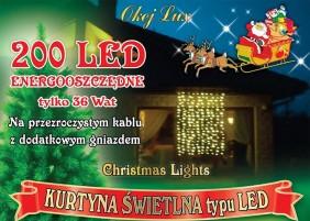Kurtyna wewnętrzna LED