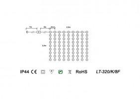 Kurtyna LED LT-320/K/8F - schemat techniczny