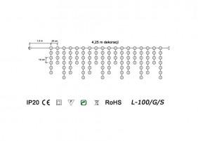 Sople wewnętrzne LED L-100/G/S - schemat techniczny