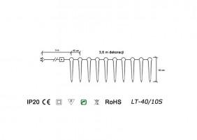 Sople LED LT-40/10S - schemat techniczny