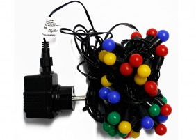 Lampki choinkowe - kule 1,5cm - multikolor
