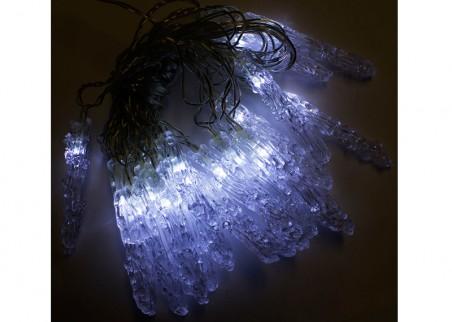 Sople choinkowe wewnętrzne - 20 sopli LED, światło zimne białe