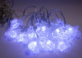 Gwiazdki choinkowe wewnętrzne - 20 gwiazdek LED, światło zimne białe