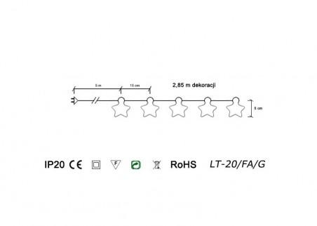 Gwiazdki choinkowe LT-20/FA - schemat techniczny
