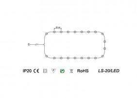 Świeczki choinkowe LS-20/LED - schemat techniczny