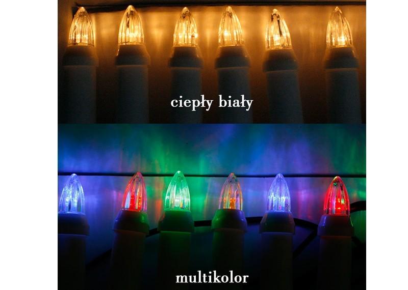 Zewnętrzne świeczki Choinkowe Ls30led 30 świeczek Led