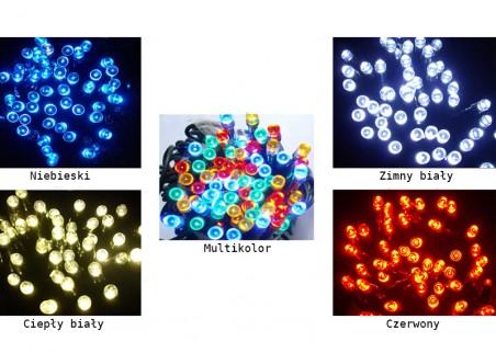 Lampki choinkowe zewnętrzne z dodatkowym gniazdem LED100/G - dostępne kolory
