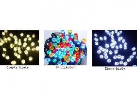 Zewnętrzne lampki choinkowe LED200/G - dostępne kolory