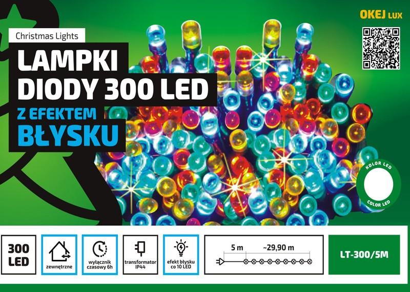 Błyskające lampki LED z wyłącznikiem czasowym