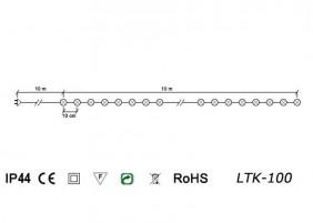 Lampki PEREŁKI LTK-100 - schemat techniczny
