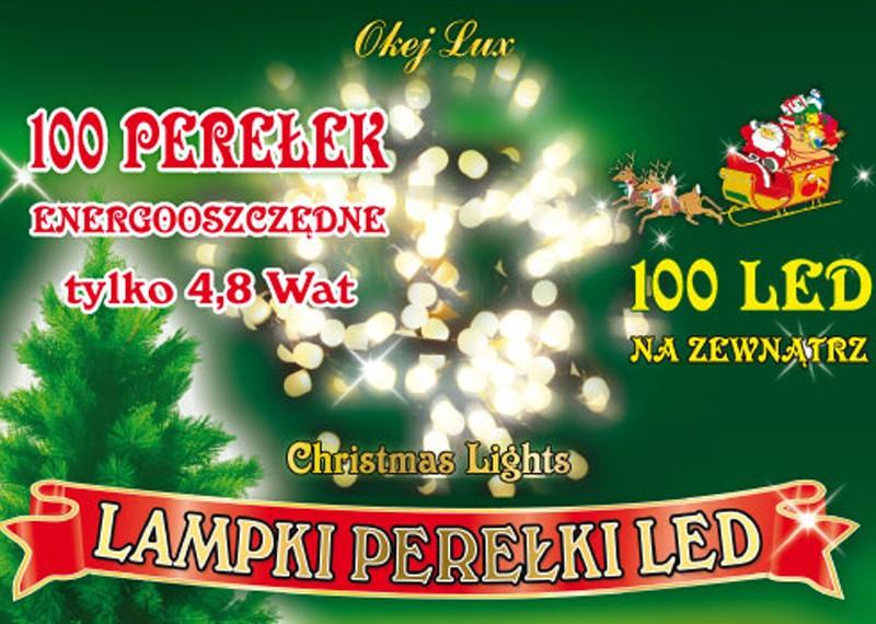 """Zewnętrzne lampki LED """"PEREŁKI"""" - łańcuch 10m"""