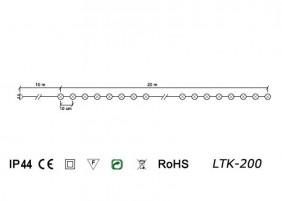 Zewnętrzne PEREŁKI LED LTK-200 - schemat techniczny