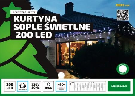 Sople zewnętrzne, 200 diod LED, różne kolory