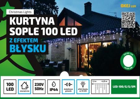 Błyskające sople zewnętrzne LED