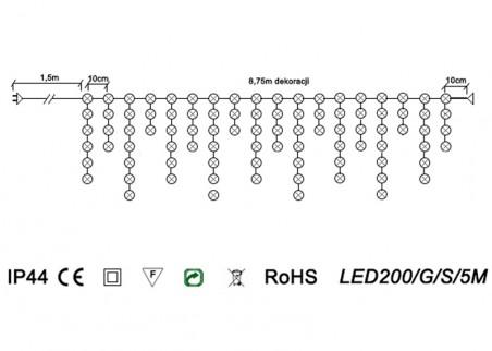 Sople zewnętrzne LED200/G/S/5M - schemat techniczny