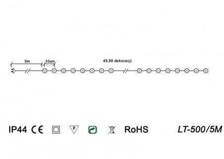 Oświetlenie świąteczne z wyłącznikiem czasowym LT-500/5M - schemat techniczny