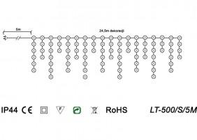 Sople zewnętrzne z efektem błysku LT-500/S/5M - schemat techniczny