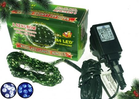 Zewnętrzne lampki mini LED na drucie, wachlarz do różnych dekoracji, 8 wiązek