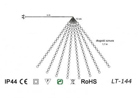 Zewnętrzne lampki mini LED LT-144 - schemat techniczny