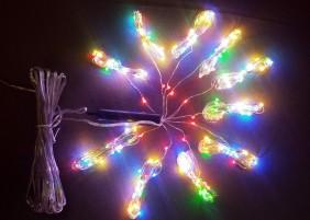 Wachlarz lampek mini LED na drucie - multikolor